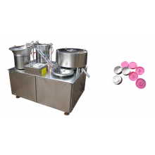LS-4 aluminum vial seal flip off cap assembly machine